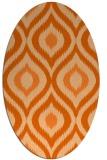 rug #632557 | oval red-orange popular rug