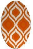 rug #632565 | oval red-orange animal rug