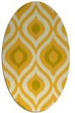 rug #632585 | oval yellow natural rug