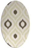rug #632589 | oval white natural rug