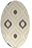 rug #632589 | oval white animal rug