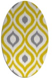 rug #632597   oval yellow animal rug