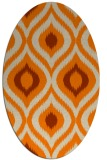 rug #632613 | oval orange natural rug