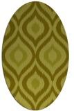 rug #632617 | oval light-green rug