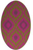 rug #632625 | oval light-green animal rug