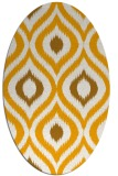 rug #632633 | oval light-orange animal rug