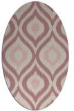 rug #632637 | oval pink natural rug