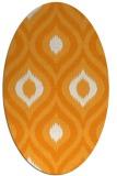 rug #632641 | oval light-orange animal rug