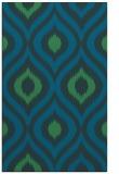 rug #632729 |  blue-green natural rug