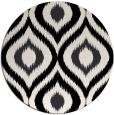 rug #633005 | round black natural rug