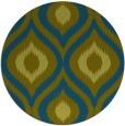 rug #633061 | round blue-green animal rug