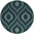 rug #633073 | round blue-green animal rug
