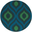 rug #633081 | round blue animal rug