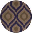 rug #633109 | round beige animal rug