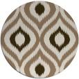 rug #633153 | round beige natural rug
