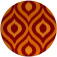 rug #633189 | round red-orange natural rug