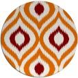 rug #633193 | round orange animal rug