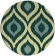 rug #633205 | round blue-green animal rug