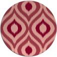 rug #633217   round pink natural rug