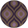 rug #633233   round purple animal rug