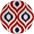 rug #633241 | round red natural rug