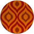rug #633245 | round red animal rug