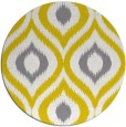 rug #633301 | round yellow animal rug