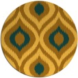 rug #633305 | round light-orange animal rug
