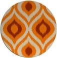 rug #633317 | round orange rug