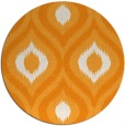 rug #633345 | round light-orange natural rug
