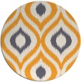 rug #633349 | round light-orange animal rug