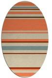 rug #634253 | oval orange rug