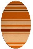 rug #634317   oval red-orange stripes rug