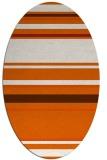 rug #634325   oval red-orange stripes rug