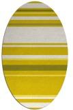 rug #634333 | oval white stripes rug
