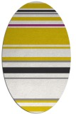 rug #634357 | oval white stripes rug