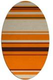 rug #634373   oval beige stripes rug