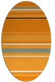 rug #634401 | oval light-orange stripes rug