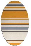 rug #634405 | oval light-orange rug