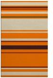rug #634725 |  orange stripes rug