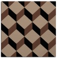rug #635481 | square black retro rug