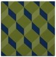 rug #635501   square green retro rug