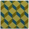 rug #635525 | square green retro rug