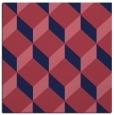 rug #635557 | square blue-violet retro rug