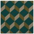 rug #635585 | square brown retro rug