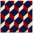 rug #635705 | square red retro rug