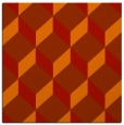 rug #635709 | square red retro rug