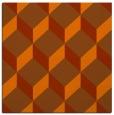 rug #635721   square red-orange retro rug