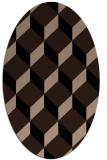 rug #635829 | oval black retro rug