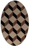 rug #635833 | oval brown retro rug